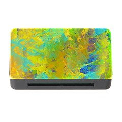 Abstract in Blue, Green, Copper, and Gold Memory Card Reader with CF