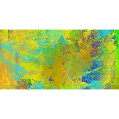 Abstract in Blue, Green, Copper, and Gold YOU ARE INVITED 3D Greeting Card (8x4)