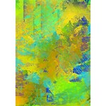 Abstract in Blue, Green, Copper, and Gold Clover 3D Greeting Card (7x5)  Inside