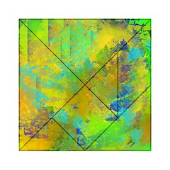 Abstract in Blue, Green, Copper, and Gold Acrylic Tangram Puzzle (6  x 6 )