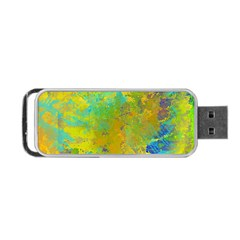 Abstract in Blue, Green, Copper, and Gold Portable USB Flash (Two Sides)