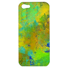 Abstract in Blue, Green, Copper, and Gold Apple iPhone 5 Hardshell Case