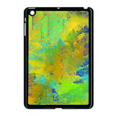 Abstract In Blue, Green, Copper, And Gold Apple Ipad Mini Case (black)