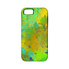 Abstract In Blue, Green, Copper, And Gold Apple Iphone 5 Classic Hardshell Case (pc+silicone)