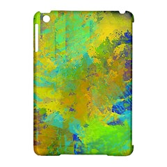 Abstract In Blue, Green, Copper, And Gold Apple Ipad Mini Hardshell Case (compatible With Smart Cover)