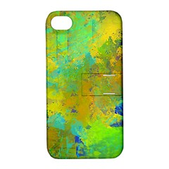 Abstract in Blue, Green, Copper, and Gold Apple iPhone 4/4S Hardshell Case with Stand