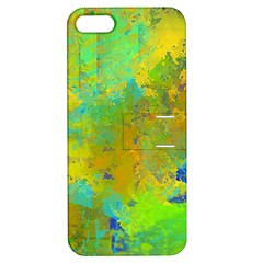 Abstract in Blue, Green, Copper, and Gold Apple iPhone 5 Hardshell Case with Stand