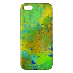 Abstract in Blue, Green, Copper, and Gold Apple iPhone 5 Premium Hardshell Case