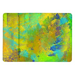 Abstract in Blue, Green, Copper, and Gold Samsung Galaxy Tab 10.1  P7500 Flip Case