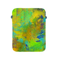 Abstract In Blue, Green, Copper, And Gold Apple Ipad 2/3/4 Protective Soft Cases