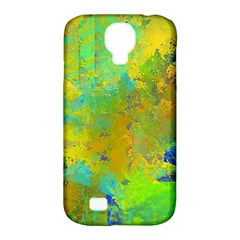 Abstract in Blue, Green, Copper, and Gold Samsung Galaxy S4 Classic Hardshell Case (PC+Silicone)