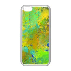 Abstract in Blue, Green, Copper, and Gold Apple iPhone 5C Seamless Case (White)