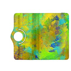 Abstract In Blue, Green, Copper, And Gold Kindle Fire Hdx 8 9  Flip 360 Case