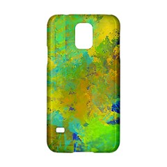 Abstract in Blue, Green, Copper, and Gold Samsung Galaxy S5 Hardshell Case