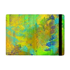 Abstract in Blue, Green, Copper, and Gold iPad Mini 2 Flip Cases