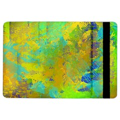 Abstract In Blue, Green, Copper, And Gold Ipad Air 2 Flip