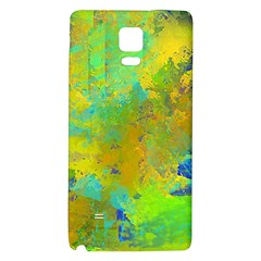 Abstract In Blue, Green, Copper, And Gold Galaxy Note 4 Back Case