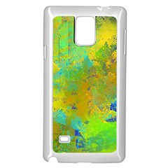 Abstract in Blue, Green, Copper, and Gold Samsung Galaxy Note 4 Case (White)