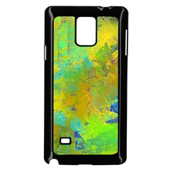 Abstract in Blue, Green, Copper, and Gold Samsung Galaxy Note 4 Case (Black)