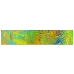 Abstract In Blue, Green, Copper, And Gold Flano Scarf (small)