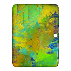 Abstract in Blue, Green, Copper, and Gold Samsung Galaxy Tab 4 (10.1 ) Hardshell Case