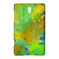 Abstract in Blue, Green, Copper, and Gold Samsung Galaxy Tab S (8.4 ) Hardshell Case