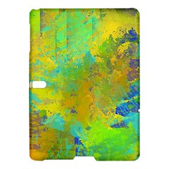 Abstract in Blue, Green, Copper, and Gold Samsung Galaxy Tab S (10.5 ) Hardshell Case