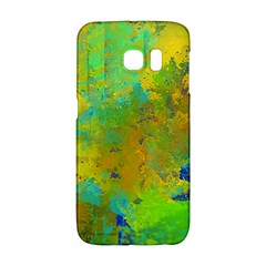 Abstract in Blue, Green, Copper, and Gold Galaxy S6 Edge