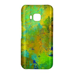 Abstract in Blue, Green, Copper, and Gold HTC One M9 Hardshell Case