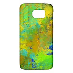 Abstract In Blue, Green, Copper, And Gold Galaxy S6