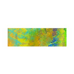 Abstract In Blue, Green, Copper, And Gold Satin Scarf (oblong)