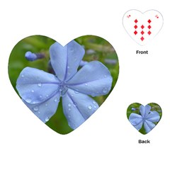 Blue Water Droplets Playing Cards (heart)