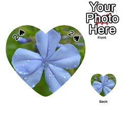 Blue Water Droplets Playing Cards 54 (Heart)