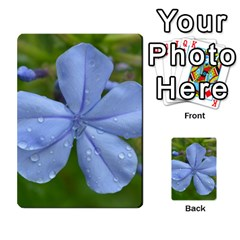 Blue Water Droplets Multi Purpose Cards (rectangle)