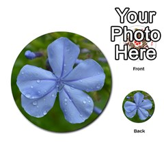 Blue Water Droplets Multi-purpose Cards (Round)