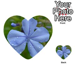 Blue Water Droplets Multi-purpose Cards (Heart)