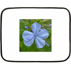 Blue Water Droplets Fleece Blanket (mini)