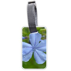 Blue Water Droplets Luggage Tags (two Sides)