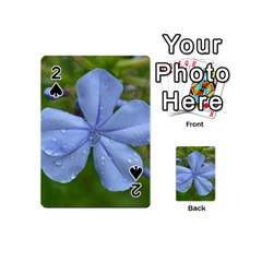 Blue Water Droplets Playing Cards 54 (Mini)