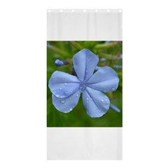 Blue Water Droplets Shower Curtain 36  x 72  (Stall)