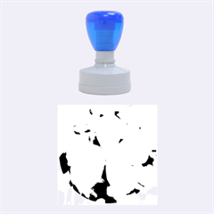 Blue Water Droplets Rubber Round Stamps (Medium)