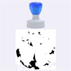 Blue Water Droplets Rubber Round Stamps (Large)