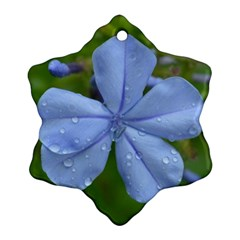 Blue Water Droplets Ornament (Snowflake)