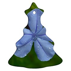 Blue Water Droplets Christmas Tree Ornament (2 Sides)