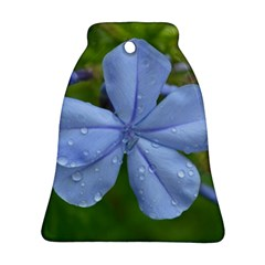 Blue Water Droplets Bell Ornament (2 Sides)
