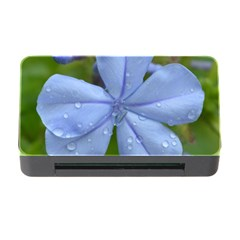 Blue Water Droplets Memory Card Reader with CF
