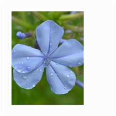 Blue Water Droplets Small Garden Flag (Two Sides)