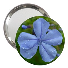 Blue Water Droplets 3  Handbag Mirrors