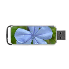 Blue Water Droplets Portable Usb Flash (two Sides)