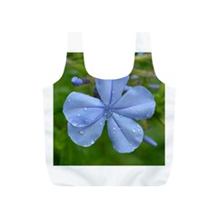 Blue Water Droplets Full Print Recycle Bags (s)